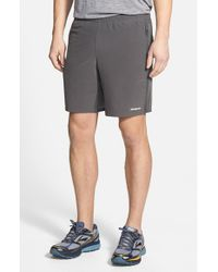 Patagonia | Gray 'nine Trails' Stretch Woven Running Shorts for Men | Lyst