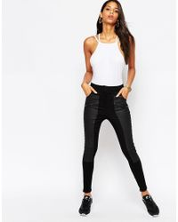 ASOS   Black Body With Square Neck And Strappy Back   Lyst