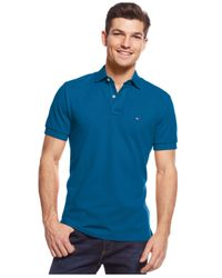 Tommy Hilfiger | Blue Custom-fit Ivy Polo for Men | Lyst