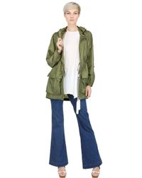 Add - Green Water Resistant Light Trench Coat - Lyst