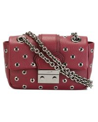 RED Valentino - Metallic Eyelet Embellished Shoulder Bag - Lyst