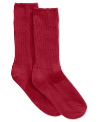 Hue | Red Women's Ribbed Boot Socks | Lyst