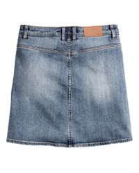 H&M Blue Denim Skirt