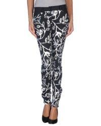 Balenciaga Black Floral Print Trouser
