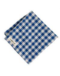 J.Crew Blue The Hillside Indigo Herringbone Handkerchief for men