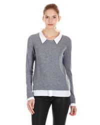 Joie Gray Rika Layered Sweater