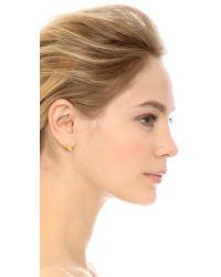 kate spade new york - Metallic Banana Stud Earrings - Clear Multi - Lyst