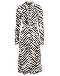 Topshop Zebra Print Shirt Dress in Black - Lyst 12d45a2f0