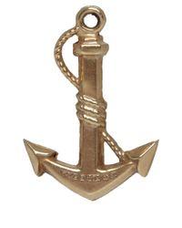 Annina Vogel Metallic Vintage 9ct Gold Anchor Charm