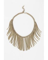Urban Outfitters - Metallic The Leo Bib Necklace - Lyst