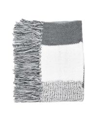 TOPSHOP | Gray Mix Stitch Tassel Scarf | Lyst