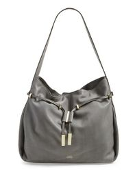 Vince Camuto | Gray Arora Leather Hobo Bag | Lyst