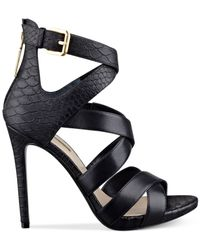 Guess Black Women's Abby Strappy Dress Sandals