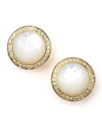 Ippolita   Metallic Mother-Of-Pearl Diamond Earrings   Lyst