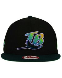 brand new de7a1 04a1e Men s Black Tampa Bay Rays 2 Tone Link Cooperstown 9fifty Snapback Cap