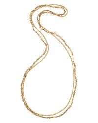 Serefina | Metallic Circle Duo Necklace - Gold | Lyst