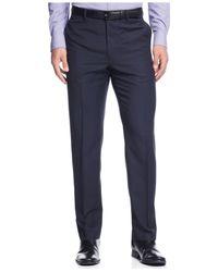 Calvin Klein | Blue Plaid Slim-fit Dress Pants for Men | Lyst