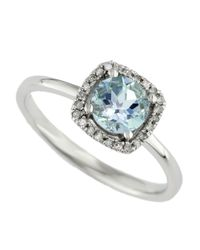 Effy - Blue Aquarius 14kt. White Gold Aquamarine And Diamond Ring - Lyst