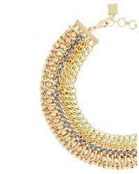 BCBGMAXAZRIA | Metallic Woven-chain Spike Necklace for Men | Lyst