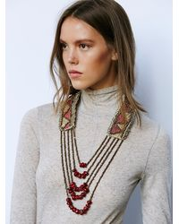 Free People | Red Boheme Sunset Necklace | Lyst