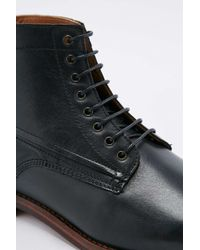 H by Hudson Forge Black Leather Boots for men