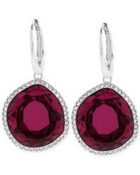 Swarovski | Red Breeze Pierced Earrings | Lyst