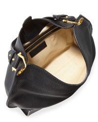 Alexander McQueen Black Legend Small Hobo Bag