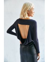 Silence + Noise | Black Everly Cowl Back Tunic Top | Lyst