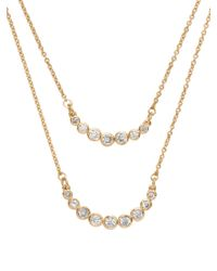 kate spade new york | Metallic Dainty Sparklers Double Strand Necklace | Lyst