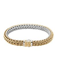 John Hardy | Metallic Classic Chain Medium Reversible Silver & Gold Bracelet | Lyst