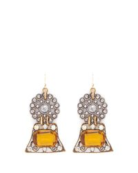Lulu Frost - Orange '100 Year Vintage' Strass Flower Drop Earrings - Lyst