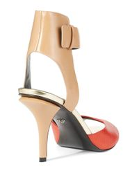 Kenneth Cole - Red Tudor Colorblock Heels - Lyst