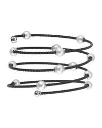 Alor | Black Pearl Spiral Cable Wrap Bangle | Lyst