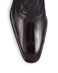 Mezlan - Brown Orleans Eel Skin Monk Strap Shoes for Men - Lyst