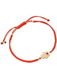 Astley Clarke - Red Coral Hamsa Skinny Biography Bracelet - Lyst