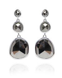 Monica Vinader | Metallic Small Silver Pyrite Siren Cocktail Earrings | Lyst