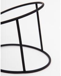 ASOS | Black Fine Bar Cuff Bracelet | Lyst