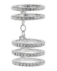 ABS By Allen Schwartz | Metallic Pave Chain-link Ring | Lyst