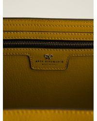 Anya Hindmarch Yellow Maxi Ebury Tote