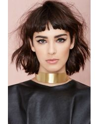 Nasty Gal | Metallic Hoot And Collar Necklace | Lyst