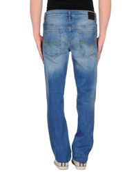 Guess - Blue Denim Trousers for Men - Lyst