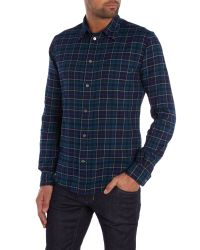 Paul Smith | Blue Tailored Fit Long Sleeve Check Shirt for Men | Lyst