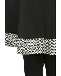Threads Black Plus Size Zip Backswing Dress