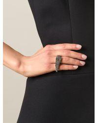 Garrard | Metallic Diamond Wing Ring | Lyst