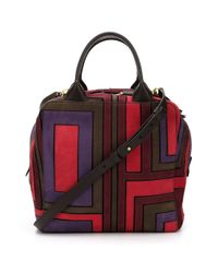 Tory Burch - Red Contrast Panel Shoulder Bag - Lyst