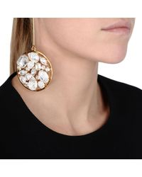 Stella McCartney Metallic Stones Drop Earrings