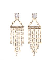 DANNIJO - Metallic Becca Crystal Fringe Earrings - Lyst