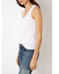 Karen Millen White Studded Vest Top