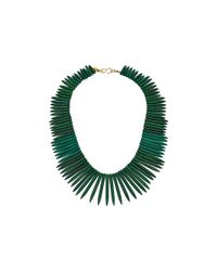 Kenneth Jay Lane | Green 9986ng Gold Chain Sticks Necklace | Lyst
