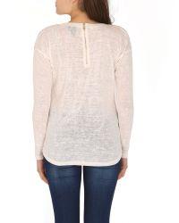 Izabel London - Natural Embellished Knit Top - Lyst
